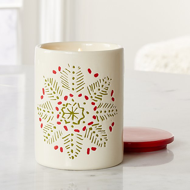 Snowflake Scented Ceramic Jar Candle - Image 1 of 4