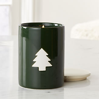 Tree Scented Ceramic Jar Candle