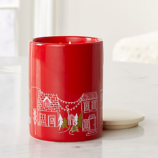 Village Scented Ceramic Jar Candle