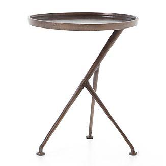 Cecilia Antique Rust Round Metal Accent Table