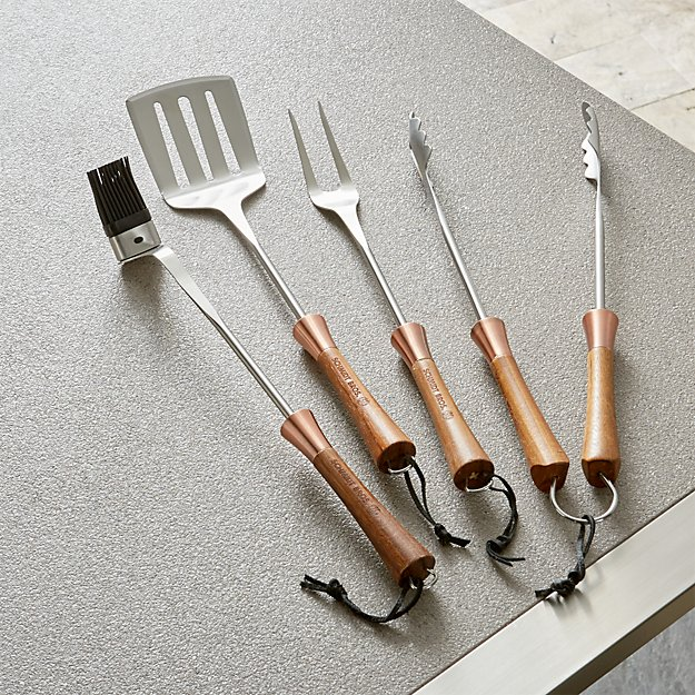 Schmidt Brothers ® 4-Piece Copper Barbecue Tool Set
