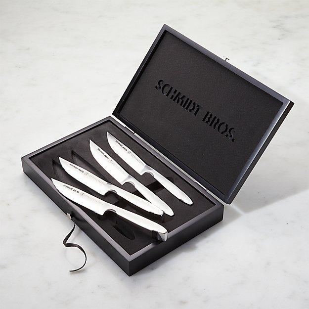 Schmidt Brothers ® Stainless Steel Jumbo Steak Knives Set of Four