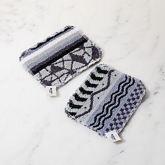 Black and White Scrub Pad, Set of 2