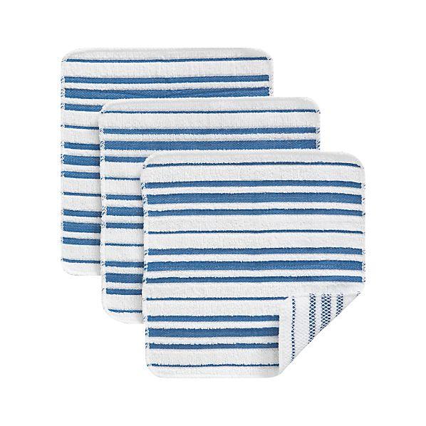 Set of 3 Scrubby Blue Dishcloths