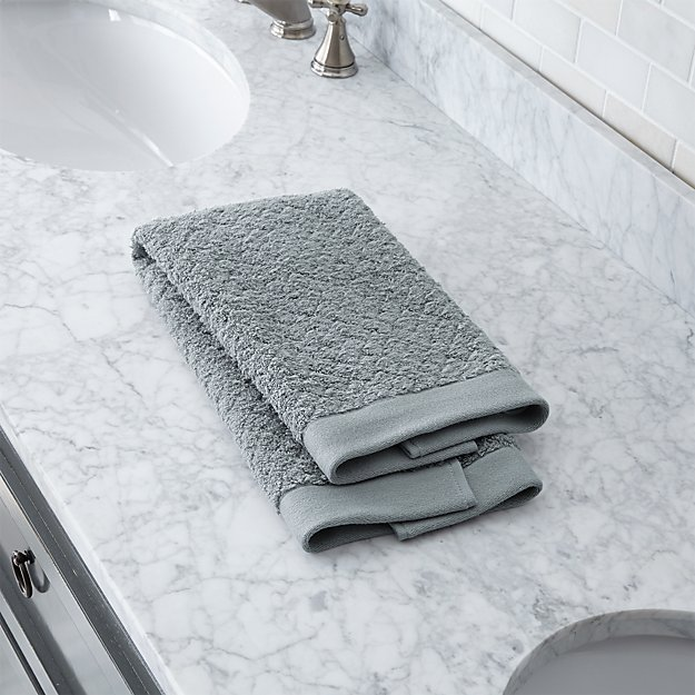 Sculpted Organic Grey Hand Towel - Image 1 of 2
