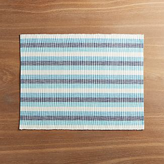 Seaside Blue Striped Placemat