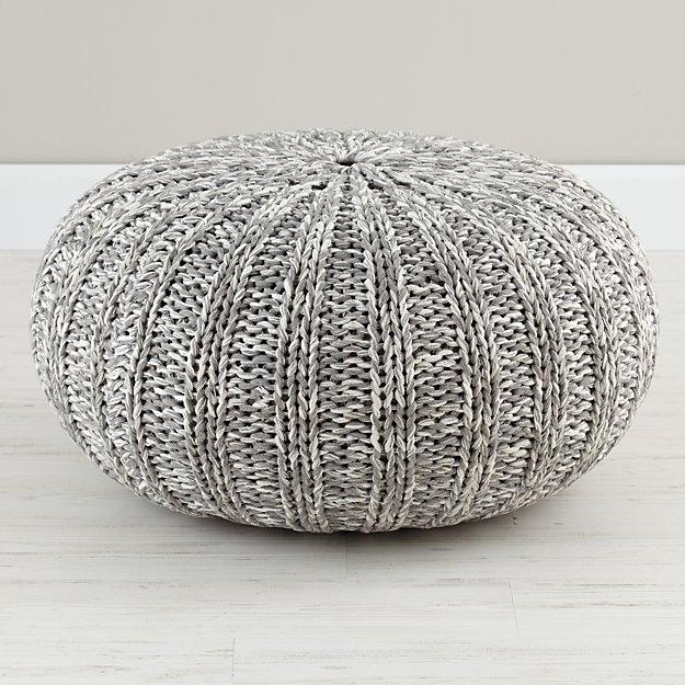 Variegated Grey Pouf Reviews