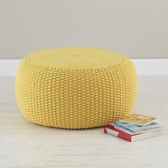 kids floor pillows bean bag chairs poufs crate and barrel. Black Bedroom Furniture Sets. Home Design Ideas