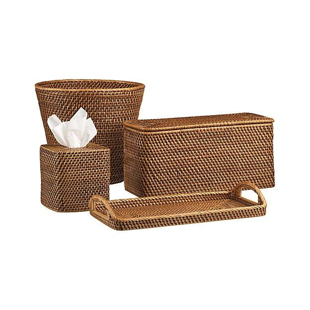 Sedona Honey Bath Accessories | Crate and Barrel