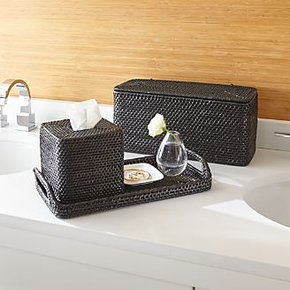 sedona black bath accessories