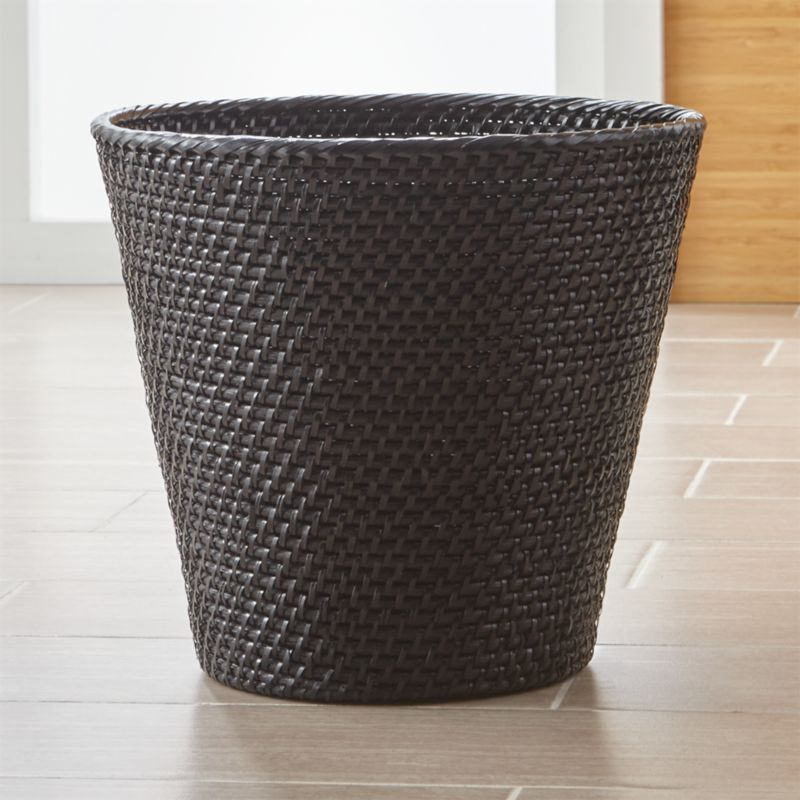 Waste Basket sedona honey rattan waste basket | crate and barrel