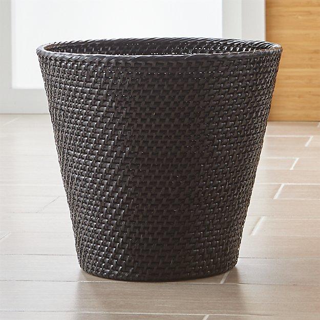 Sedona Black Tapered Waste Basket/Trash Can