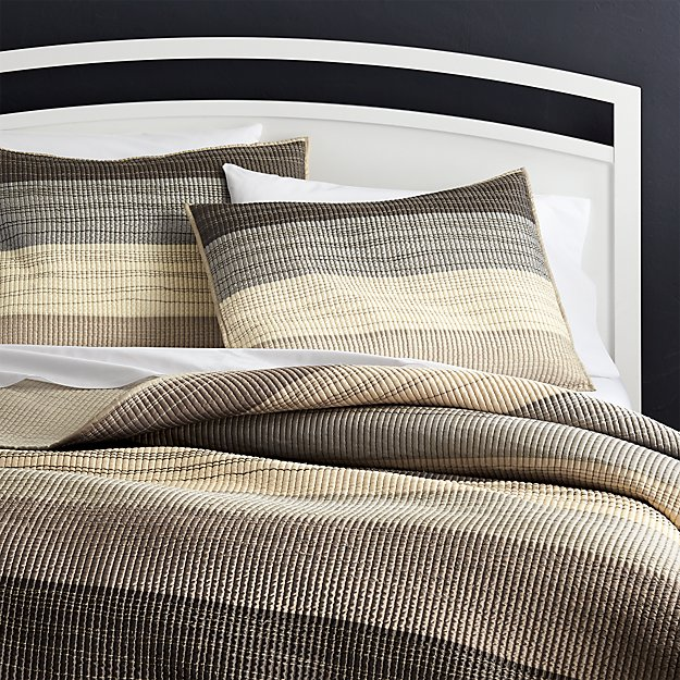 Sedona Grey Quilts and Pillow Shams | Crate and Barrel : quilted king shams - Adamdwight.com