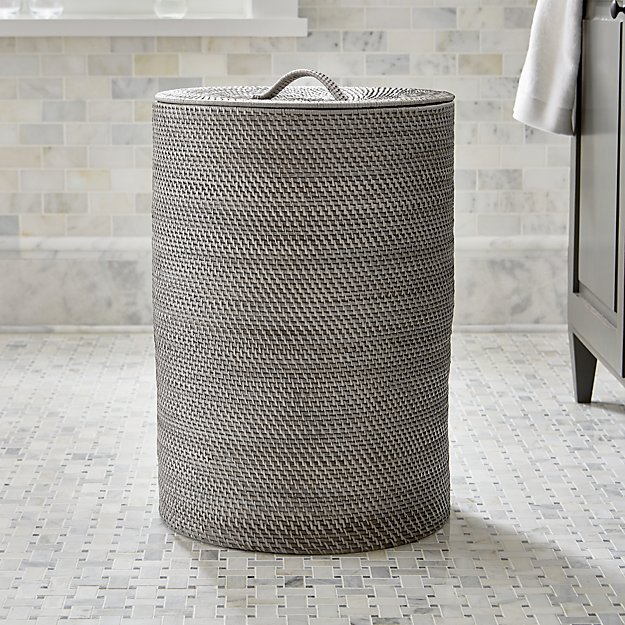 Sedona grey hamper crate and barrel - Superhero laundry hamper ...