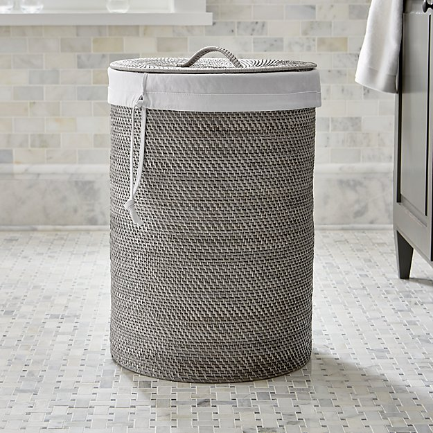 Sedona grey hamper with liner crate and barrel - Superhero laundry hamper ...