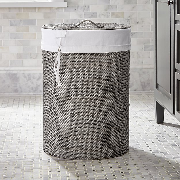 Sedona Grey Hamper with Liner - Image 1 of 4