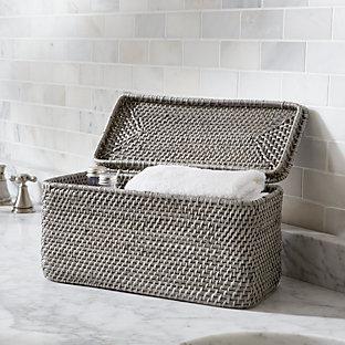 Sedona grey vanity tray crate and barrel - Crate and barrel bathroom vanities ...