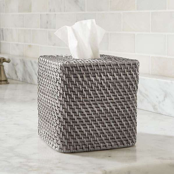 Sedona Grey Square Tissue Box Cover