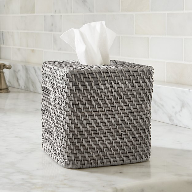 Sedona Grey Square Tissue Box Cover Reviews Crate And