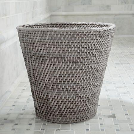 Sedona Grey Bathroom Trash Can