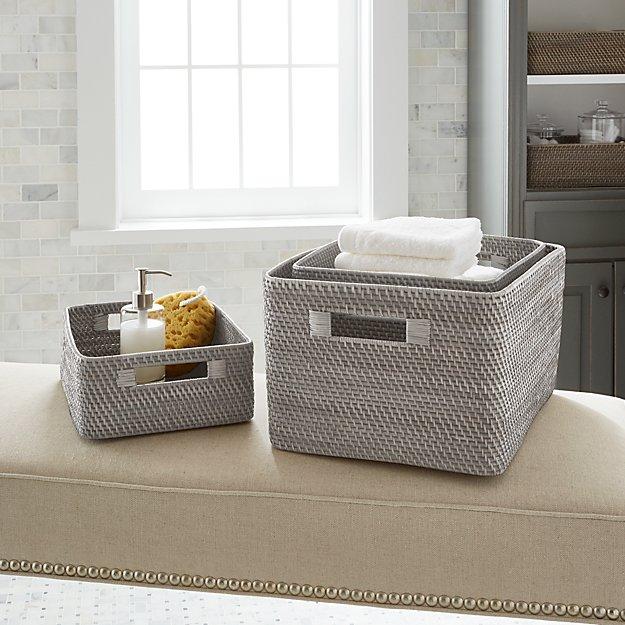 Sedona Grey Totes Crate And Barrel