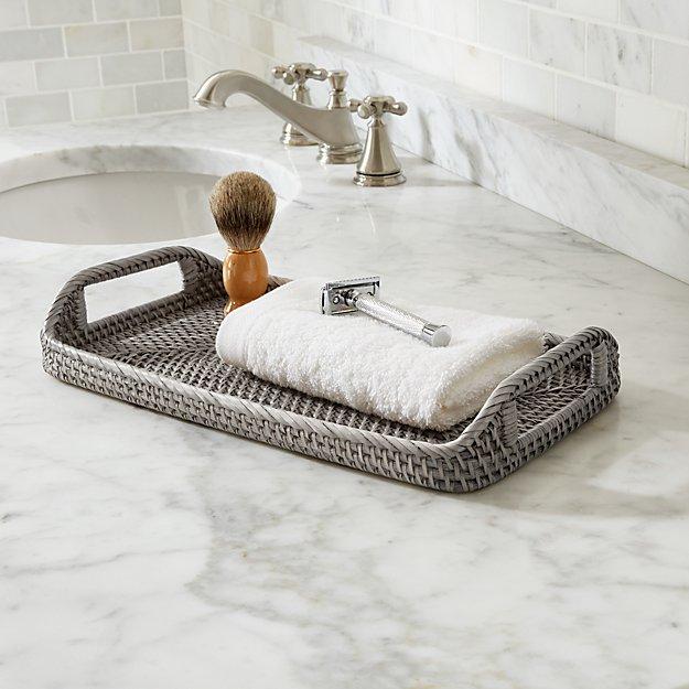 Sedona grey vanity tray reviews crate and barrel - Crate and barrel bathroom vanities ...