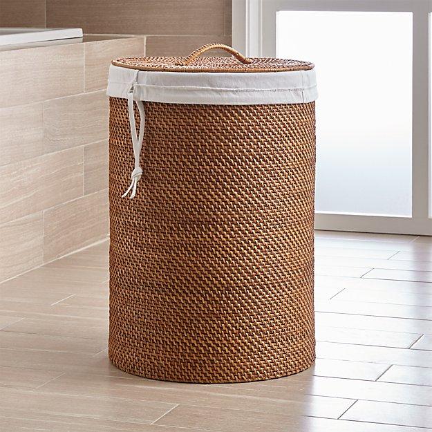 Sedona honey hamper with liner set crate and barrel - Superhero laundry hamper ...