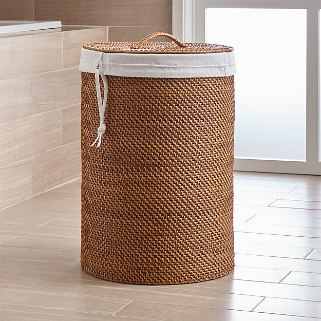 White Canvas Hamper Liner Crate And Barrel