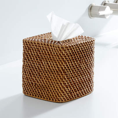 Sedona Honey Square Tissue Box Cover Reviews Crate And Barrel