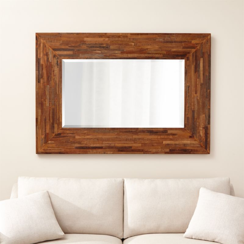 seguro wood wall mirror reviews crate and barrel 15214