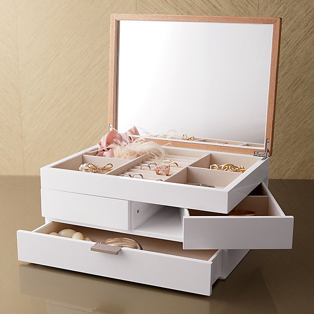 Selma White Jewelry Box In Home Accents Reviews Crate