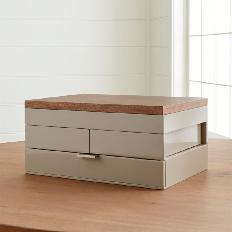 Selma Contemporary Jewelry Box Reviews Crate and Barrel