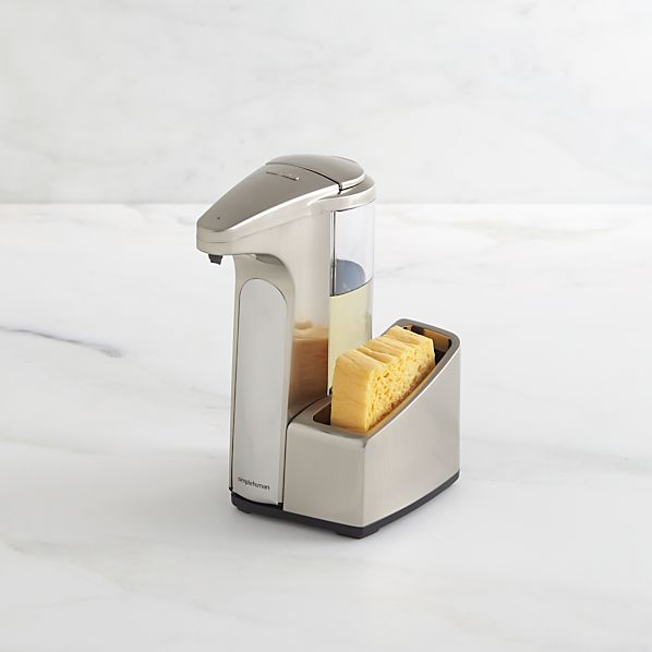 simplehuman ® Sensor Soap Pump with Stainless Steel Caddy
