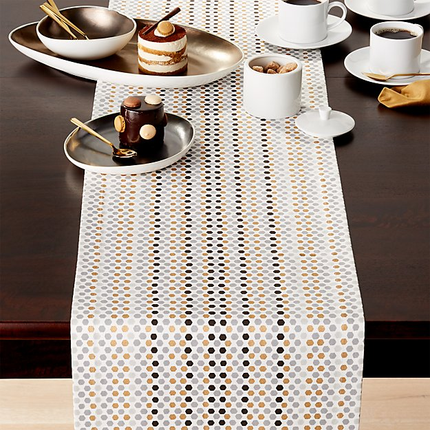 Sequin 120 table runner crate and barrel for 120 table runners
