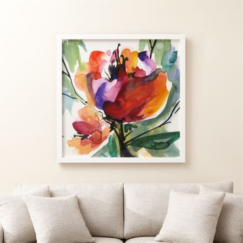 Serendipity Floral Watercolor Print + Reviews | Crate and Barrel