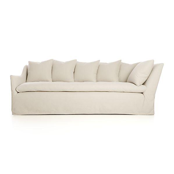 """Slipcover Only for Serene 98"""" Left Arm Corner Sofa"""