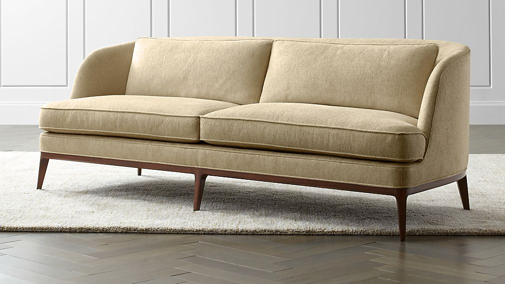 Seychelles Wood Trim Sofa - Image 1 of 9