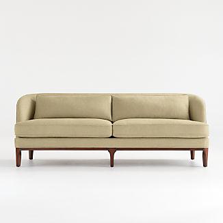Seychelles Wood Trim Sofa