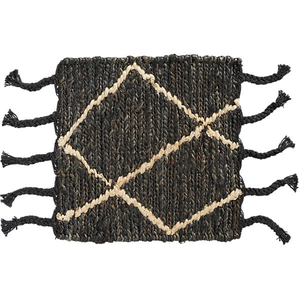 "Shaba Black 12"" sq. Rug Swatch"