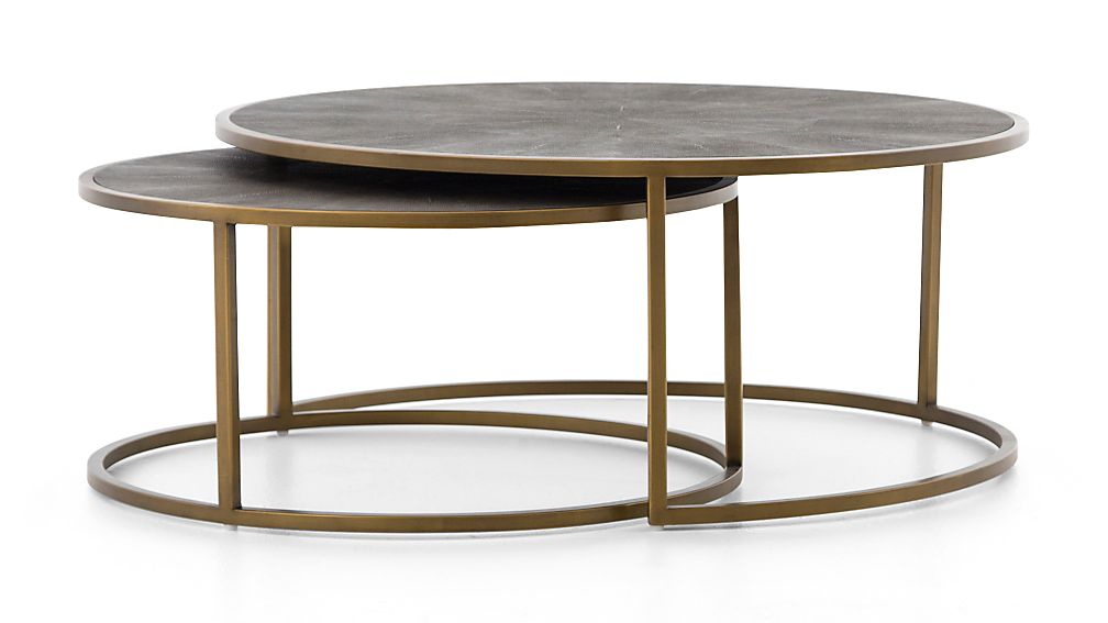 c1620daea0c0b Keya Antique Brass Nesting Coffee Tables + Reviews
