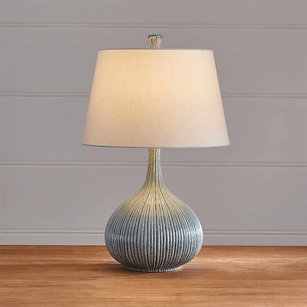 Shaye Blue Table Lamp Crate And Barrel