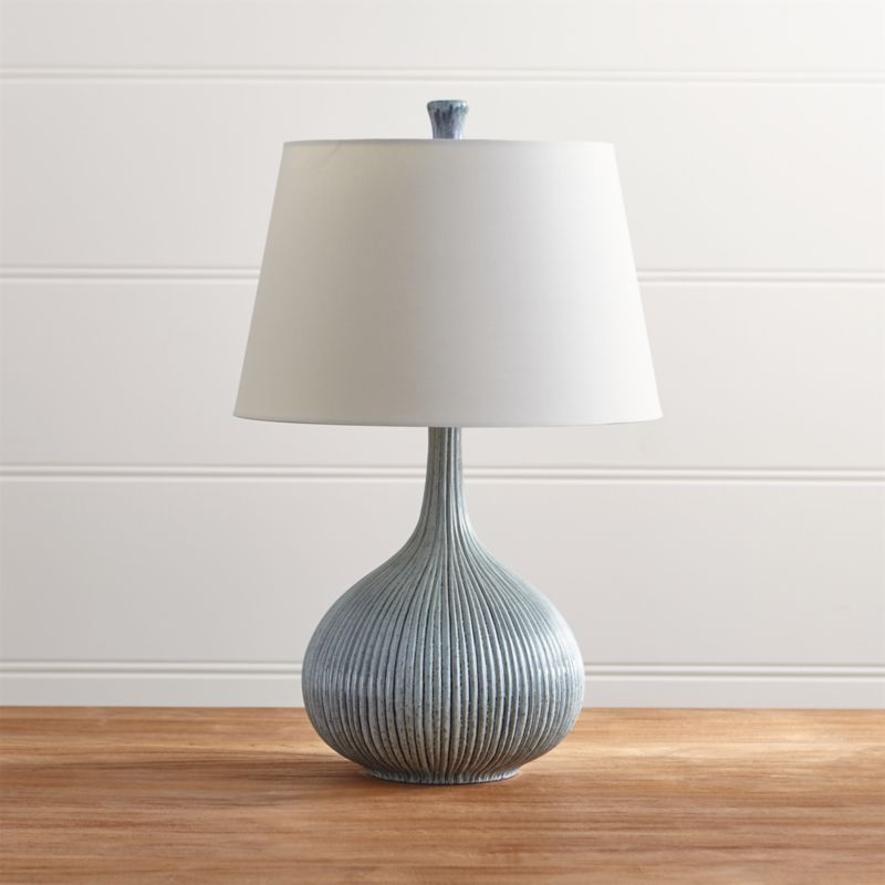 Shaye blue table lamp