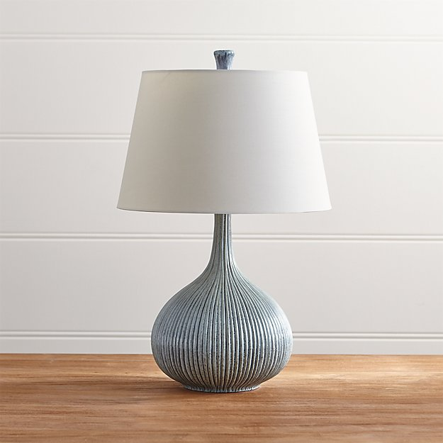 Crate and Barrel Exclusive. Shaye Blue Table Lamp - Shaye Blue Table Lamp Crate And Barrel