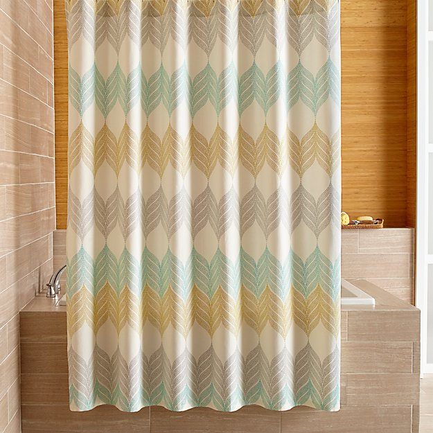 Shower Curtains crate and barrel shower curtains : Sheesha Leaf Shower Curtain | Crate and Barrel