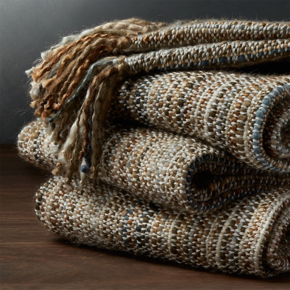 Shelby Natural Throw - Crate and Barrel
