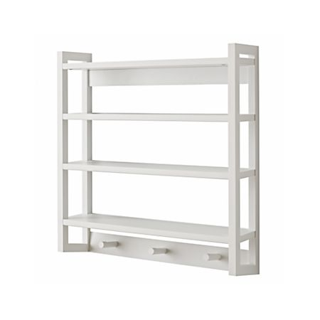 Fabulous Beaumont White Wall Rack Home Interior And Landscaping Eliaenasavecom