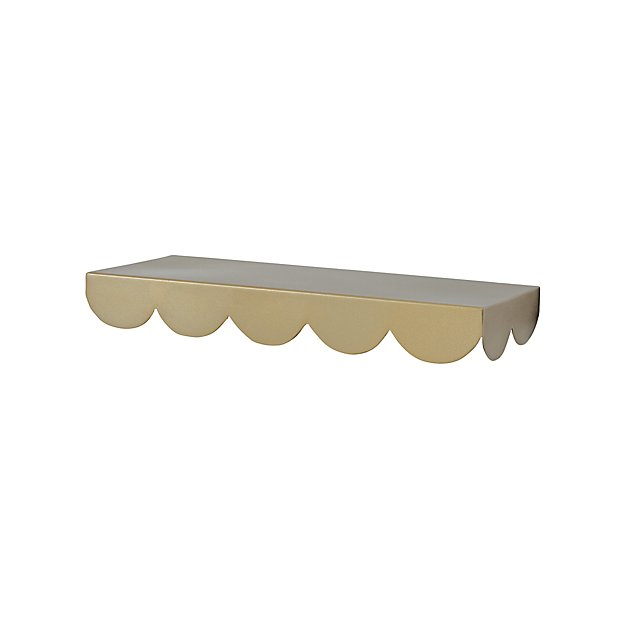 Gold Simple Scallop Wall Shelf Reviews Crate And Barrel