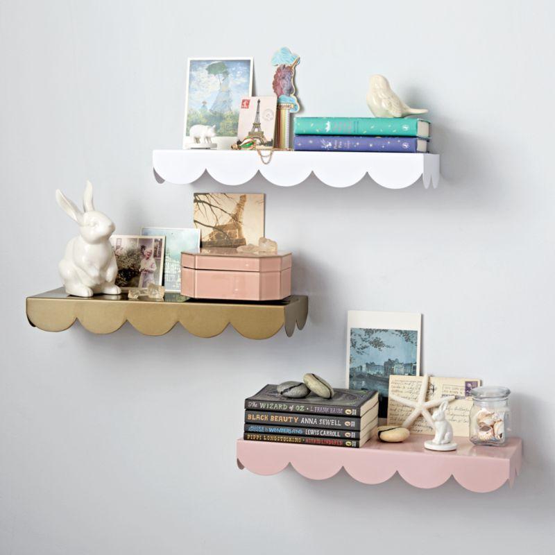 Scallop Wall Shelf | Crate and Barrel