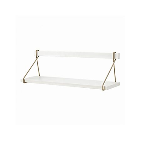 Suspension White Wall Mounted Shelf