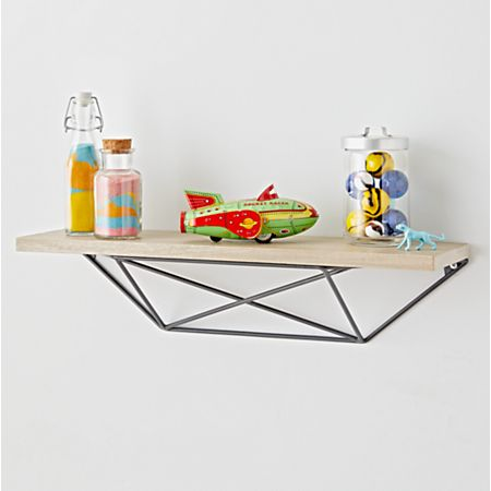 outlet store 0c4ef 28e0c Metal and Wood Geometric Shelf